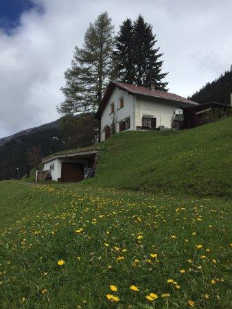 Heidi trail and the hamlet of Stugls