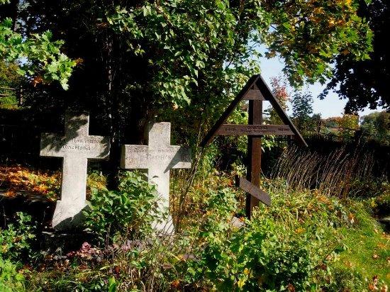 Бёхово, Россия: кресты на кладбище