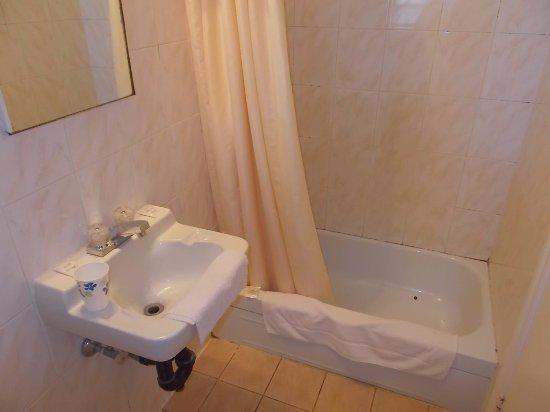 Bathroom at Super 7 Motel London Ontario was very clean