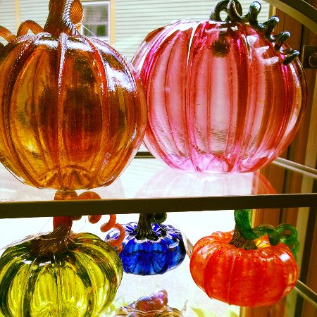 Chester, VT: Blown Glass Pumpkins