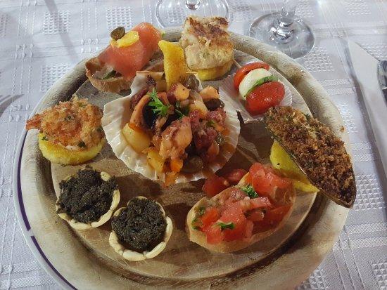 Villas Kalimba: Roberto's köstlicher Vorspeisenteller