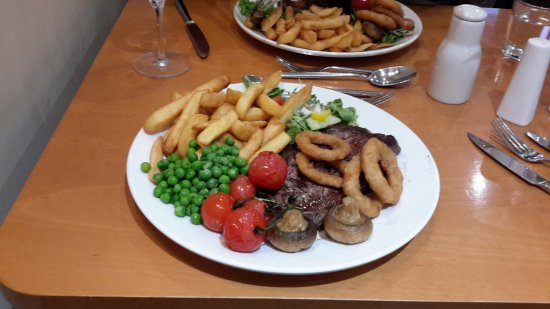 Llanyre, UK: The steak
