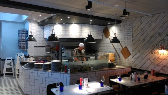 A Fabulous Open Kitchen So You Can See The Pizzas Being Created Picture Of Pizza Express Haslemere Tripadvisor