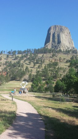 Devils Tower, WY: Interpretive Site and World Peace Sculpture