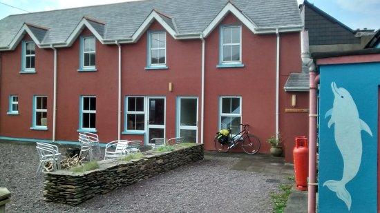 Couryard area of the Allihies Village Hostel
