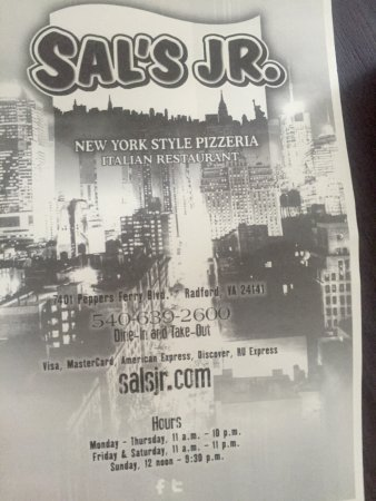 Sal's Jr. New York Style Pizzeria and Italian Restaurant: photo4.jpg