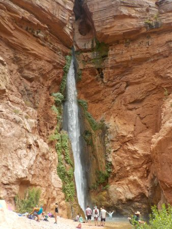 Deer Creek Trail: This is the Deer Creek Waterfall from the Colorado River