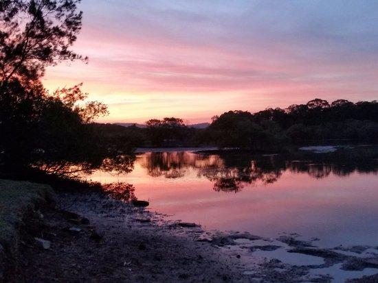 Boambee Bay Resort: Amazing sunset views