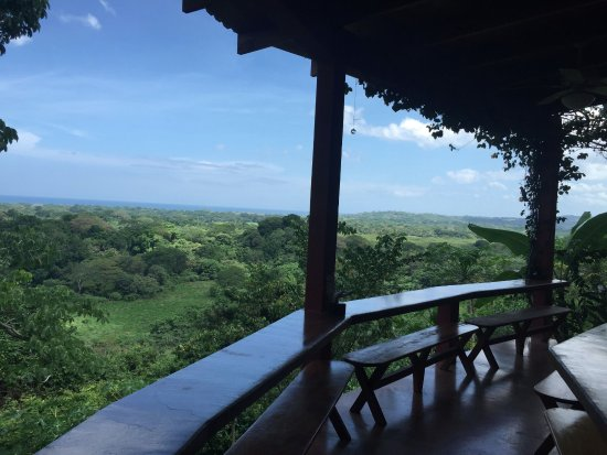 Costa Rica Yoga Spa: view off the dining area balcony, breathtaking!!!