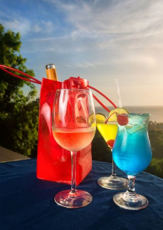 The Champs Restaurant: Drinks with a view