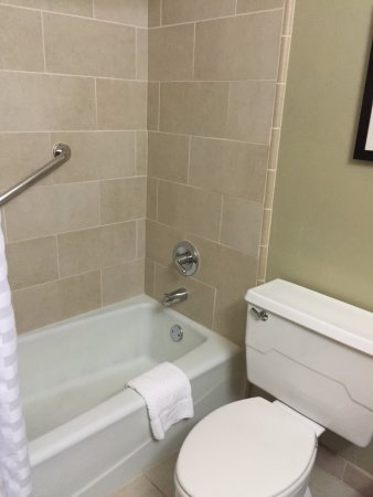 Doubletree by Hilton Chicago Magnificent Mile: Bathtub has overhead shower