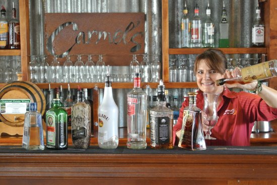 Carmel's Cafe Bar and Grill: Carmel hard at work!