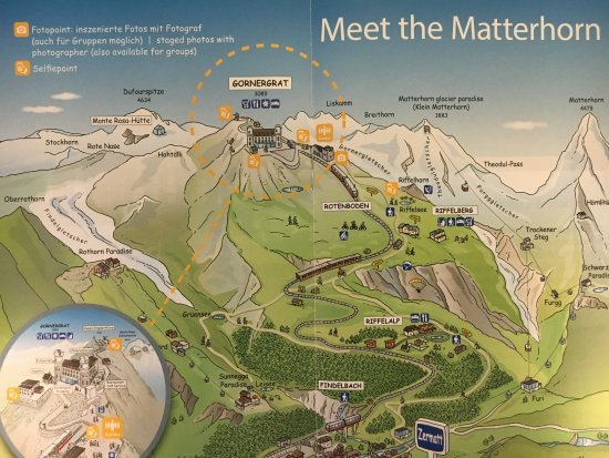 The map Picture of The Matterhorn Zermatt TripAdvisor