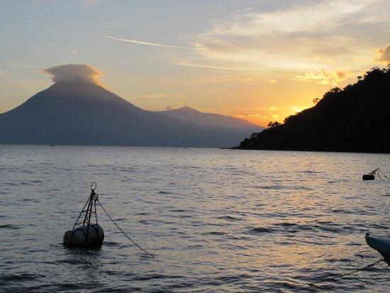 Hotel Atitlan: Sunset of Lake Atitlan from Hotel