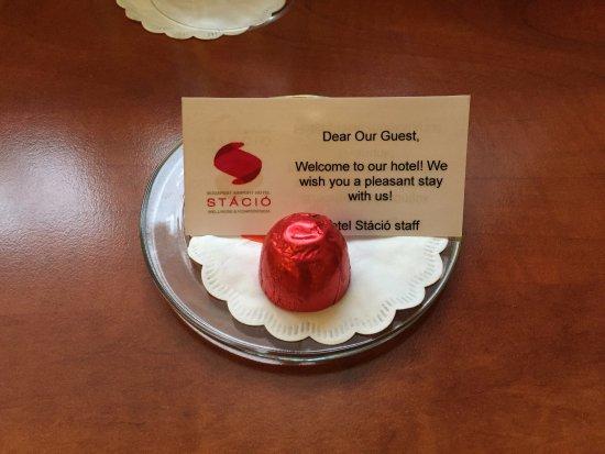 Vecses, Hungary: Welcome chocolate