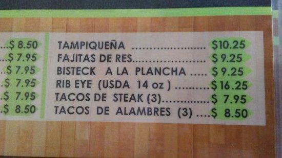 Nogales, AZ: Menu