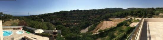 Atsipopoulo, Grecia: Panoramic pic from upstairs balcony