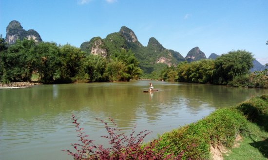Yangshuo Mountain Retreat: View from restaurant garden (same as from rooms)