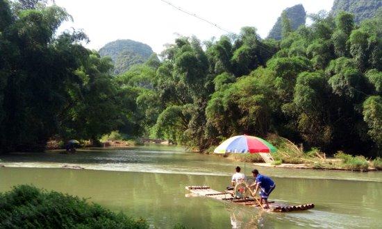 Yangshuo Mountain Retreat: View from restaurant garden