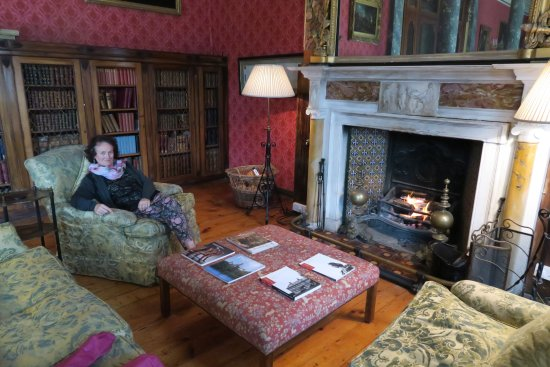 Bantry House B&B: Relaxing in front of the log fire