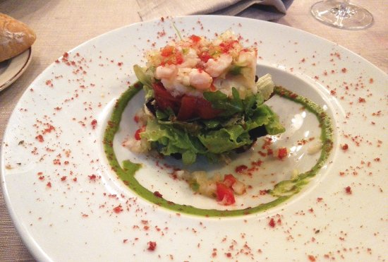 Zamudio, Spanien: ensalada de bacalado verduras y marisco