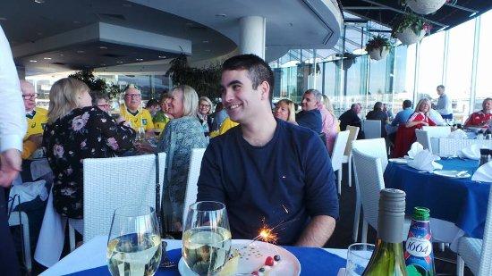 Birthday Tart with sparklers