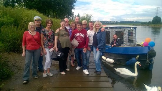 Friends and family on one of Gunthorpe leisure boats