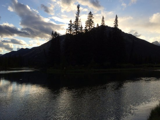 Brewster's Mountain Lodge: Bow river, 2 mins walk from the hotel