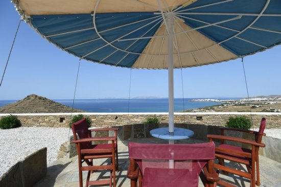 Tinos View Luxury Apartments: View From the Umprella