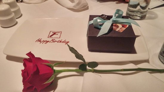Flemings Prime Steakhouse Wine Bar Birthday Dinner With A Gift From The Restaurant