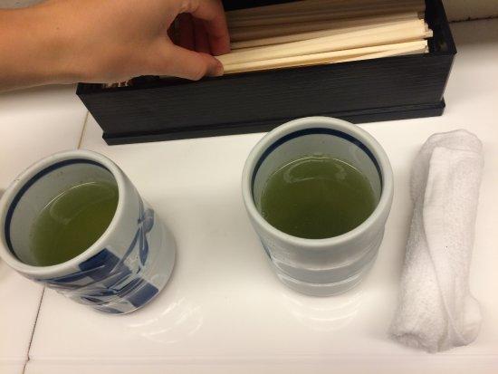 free green tea 港区 standing sushi bar 魚がし日本一 新橋日比谷口