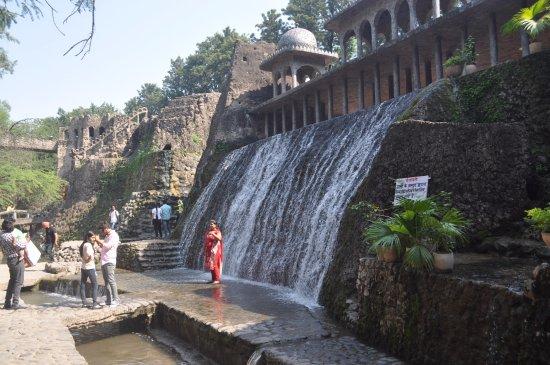 The Rock Garden Of Chandigarh: Waterfalls At Rock Garden