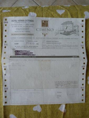 Ricevuta del pagamento della tassa di soggiorno (il soggiorno vero e ...
