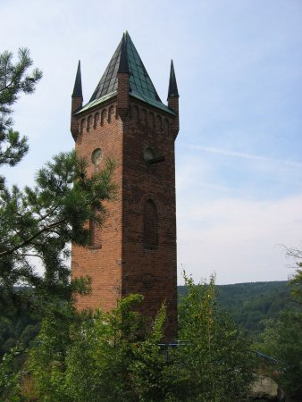 Pulverturm Greiz is located in beautiful landscape