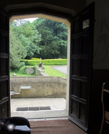 Prinknash Abbey : The view from inside the chapel to the gardens beyond.