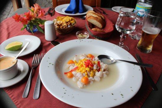 El Crater Hotel: Ceviche!