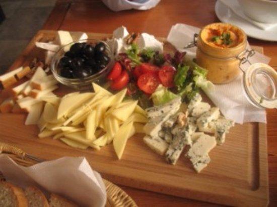 Kozia Brana: tagliere di formaggi