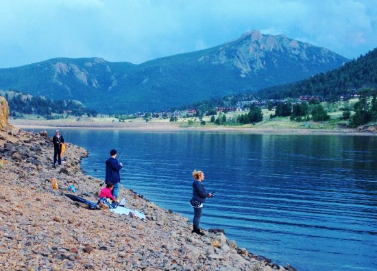 Fishing at mary 39 s lake picture of mary 39 s lake campground for Camping and fishing in colorado