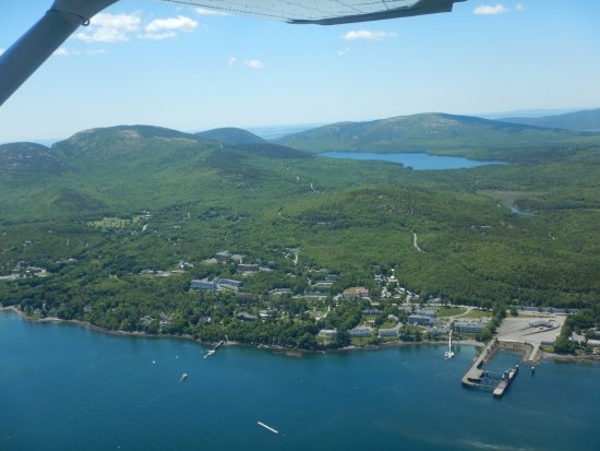 Views of Mount Desert Island and Acadia National Park from Scenic