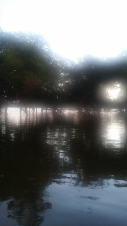 Indian Lodge Resort Lake Whitney: View of flooding from campground