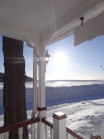 Le Domaine Belle Plage: Vue sur la baie du pallier de l'hôtel