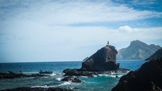 Kuata Island, Fiji: Warrior Rock