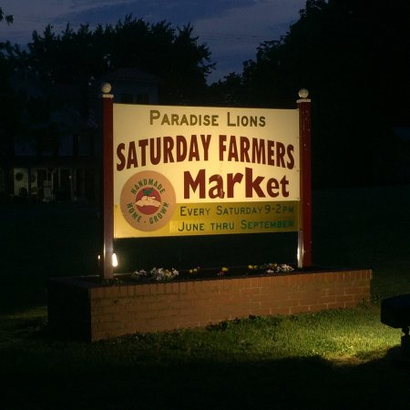 Paradise, Πενσυλβάνια: Watch for our sign on the market grounds along Route 30