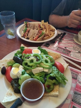 Denver, PA: Sandwich and Greek salad