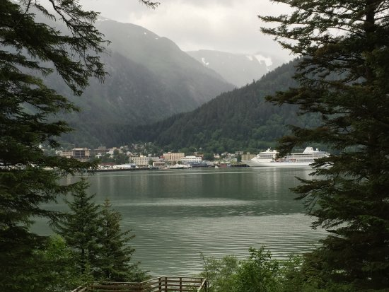 View of Juneau on walk to Island Pub