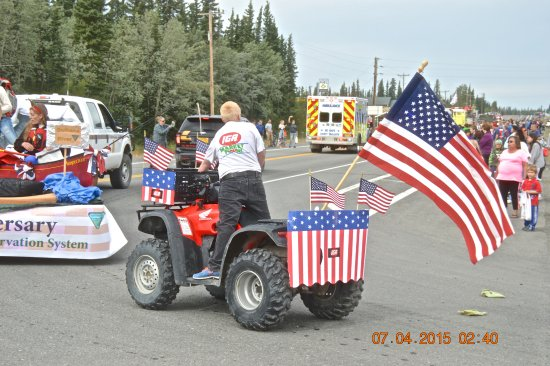 Northern Nights Campground and RV Park: 4th of July Parade Glennallen Ak