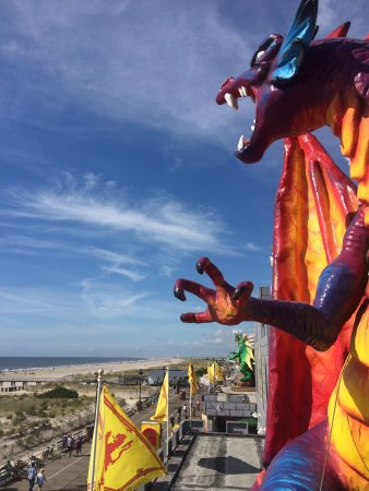 A Dragons view of the Ocean City New Jersey Beach from atop Medieval Fantasy Mini Golf