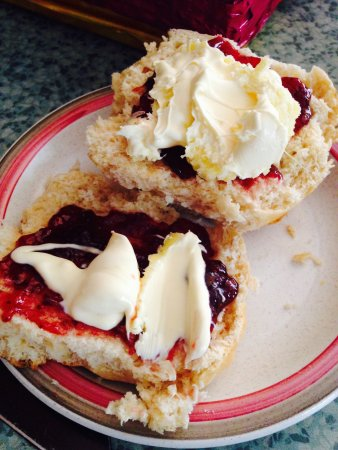 Nice Fresh Cornish Clotted Cream Review Of Martins Dairy Looe England Tripadvisor