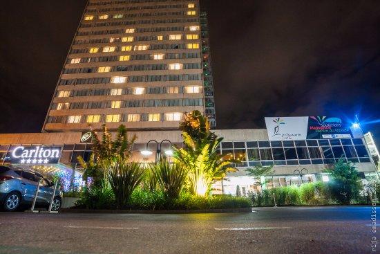 Hotel Carlton Antananarivo Madagascar: Carlton Hotel at night during coverage for Kudeta's 13th Anniversary party
