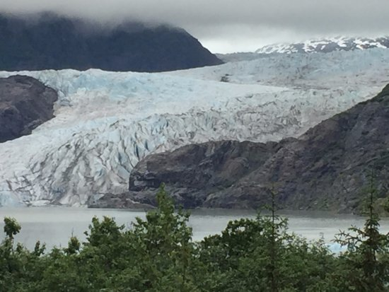 Gastineau Guiding Company - Juneau's Premier Guiding Company: Our view of the Mendenhall Glacier during our hike.